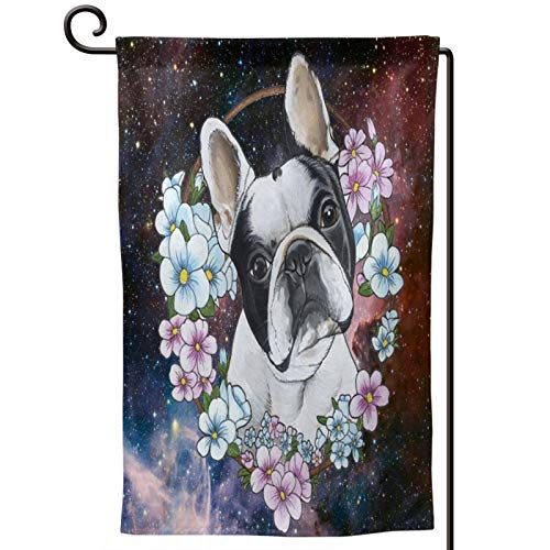 SHATANG Garden Flag Frenchie French Bulldog Double Sided House Flag Yard Outdoor Decoration 12.5 x 18 Inch