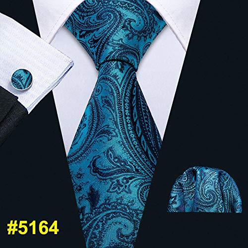 CCYUANG Cravates Homme Cravate De Mariage pour Hommes Bleu Mouchoir De Cravate Paisley Set Jacquard Party Tricoté Cravate pour Hommes-Fa-5164_China