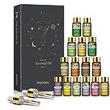 PHATOIL Juego de aceites esenciales – Top 15 aceites esenciales, aceite esencial de aromaterapia para difusor humidificador de yoga y masaje, 15 botellas, 5 ml