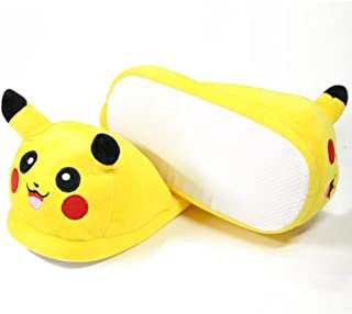 WILLIAM LAMB Pantoufles Pok/émon Pikachu pour Enfant Noir Taille 36-42