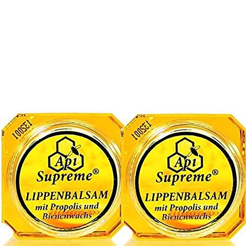 ApiSupreme Lippenbalsam Propolis (2x12ml) Vertrieb: Naturprodukte-MV Lippen Balsam Pflege Balm Api...