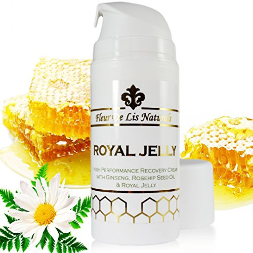 Royal Jelly - Natural and Organic Face Moisturizer & Hand Cream, Anti-Aging, Anti-Wrinkles & Anti-Acne Remedy, Best Treatment for Age Spots, Scars and Stretch Marks, for Women and Men, 3.38 oz