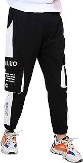 LAUSONS Pantalon Niños con Puño Elastico - Pantalones de Sport Cargo Cintura Elástica Joggers