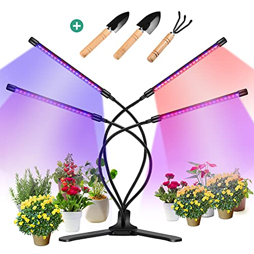360° Grow Light for Indoor Plants - Gooseneck Full Spectrum Growing Lamp Strip w/ 3 Modes 9 Dimmable Brightness 3/9/12 H Timer Ideal for Greenhouse Plants Flowers Veg Succulents Potted Growth