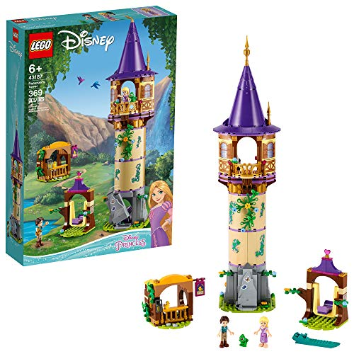 LEGO Disney Rapunzel's Tower 43187 Building Kit for Kids; A Great Birthday for Disney Princess Fans; Ideal for Kids who Like Rapunzel, Flynn Rider and Pascal, New 2020 (369 Pieces)