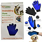 Gentle Pet Grooming Glove Brush, Gentle Deshedding Glove Great For Cats & Dogs