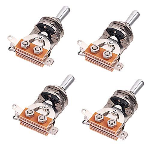 SM SunniMix Selector de Pastillas de Interruptor de 3 Vías de Guitarra Eléctrica de Aleación de 4 Piezas Más Fino