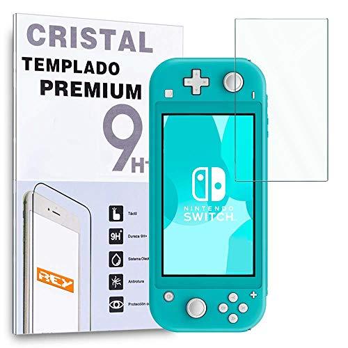 REY Protector de Pantalla para Nintendo Switch Lite, Cristal Vidrio Templado Premium