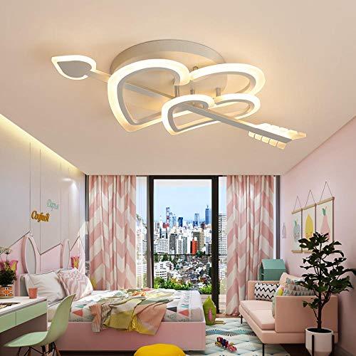 Kreative Persönlichkeit LED-Deckenleuchten, Liebe einfache romantische Hochzeitszimmer Mädchen Schlafzimmer Lampe Kinder Lampe Balkon Decke Lampe-WHITE_L80cmW43cmH10cm_Cool Weiß NO RC