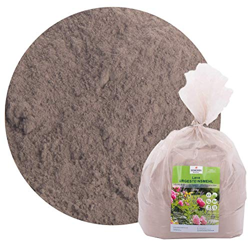 Schicker Mineral Lava Urgesteinsmehl, 25 kg feines Steinmehl mit Mineralien für Boden & Pflanzen, 100% Naturprodukt