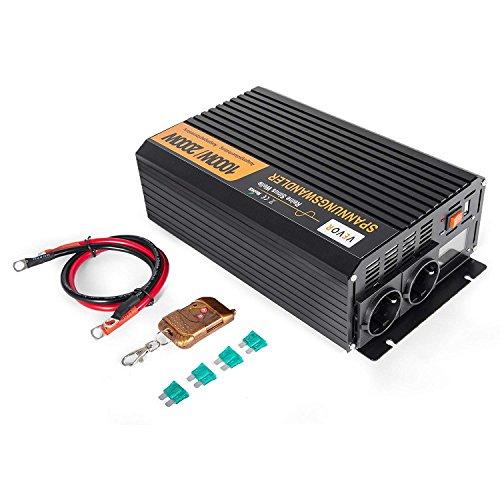 ZGYQGOO 2500/5000 W CC 12 V a AC 230 V Convertidor de Potencia de onsinusoidal Puro con Pantalla LED con Control Remoto (GYS-2500 W con LED)