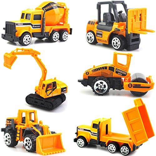 ZONTORおもちゃの乗り物の車のトラック、建設工学の車のモデル、子供のための6つのプレゼントのパック