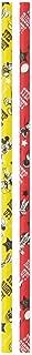 スケーター ストロー 紙 ペーパーストロー ミッキー カーニバル ディズニー 30P 直径6mm×長さ21cm PST1
