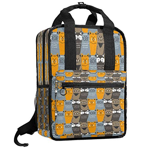 Backpacks Shoulders Bag Colorful Cats Pattern Backpack traveling middle school high school