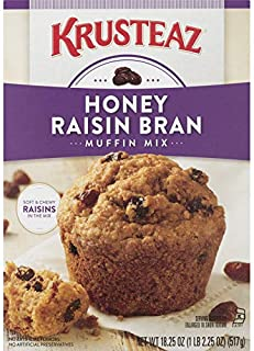 Krusteaz Honey Raisin Bran Muffin Mix, 18.25-Ounce Boxes (Pack of 12)