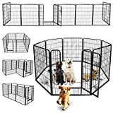 Nova Microdermabrasion Dog Pen Pet Playpen Kennel Fence Outdoor Indoor Play Yard Puppy Exercise Barrier, 31' W x 40' H - 8 Panels