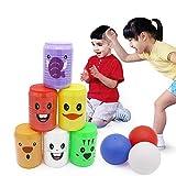 KPOON Juguetes de Bolos Juego de Bolos Juego de Bolos 6 Pines de Colores 3 Bolas Desarrollo Educativo Deportes Juego al Aire Libre de Interior Juego para niños, niños pequeños para niños pequeños