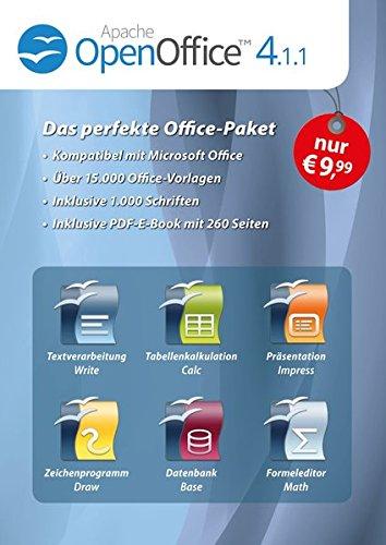 OpenOffice 4.1.1 + 1.000 Schriften + 15.000 Office Vorlagen + eBook mit 260 Seiten