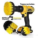 StillCool Spazzola per Trapano, Confezione da 3 Drill Brush 2' 3.5' 4' Power Scrubber per la Pulizia Toilette Cucina Bagno Doccia Piastrelle Lavello Auto