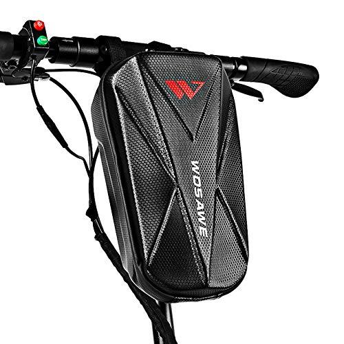 Tidyard Bolsa de Manillar de Scooter Bolsa de Almacenamiento de EVA de Carcasa Dura Impermeable para Scooter de Bicicleta eléctrica