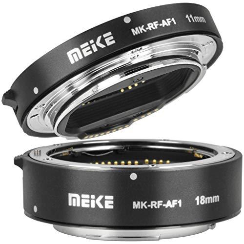 Meike Zwischenring für Canon EOS R, RP, Makrofotografie | 11mm und 18mm Automatik Makro Zwischenringe, kompatibel mit Canon RF-Bajonett | MK-RF-AF1