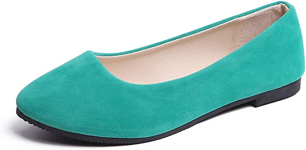 Limsea Clearance Sale! Women's Career Work Shoes Solid Color Low Tops Suede Loafer Round Toe Flat Slip-Ons Light Comfy Casual Shoes