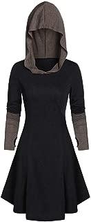 Holzkary Womens Funny Halloween Cloak Poncho Masquerade Party Blouse Fashion Long Hoodie Tops Dress