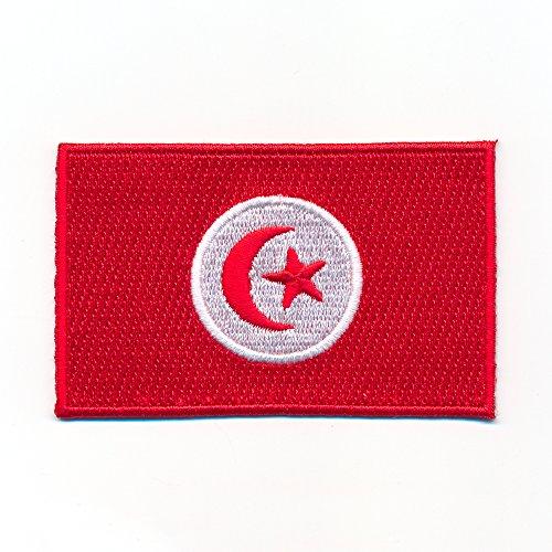 hegibaer 30 x 20 mm Tunesien Afrika Tunis Djerba Flagge Flag Aufnäher Aufbügler 1020 Mini