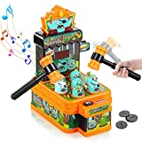 Jumpit Whack a Mole Game Zombie War, Mini Kids Electronic Arcade Game with 2 Hammers, Interactive Pounding Toddler Toys for 3 4 5 6 7 8 Years Old