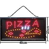 Pizza Schild LED-Schild Leuchtreklame Pizzeria Fast Food Imbiss & Schnellimbiss Neon Werbeschild...