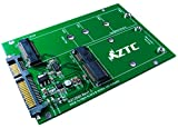 ZTC 2-in-1 Thunder Board M.2 (NGFF) or mSATA SSD to SATA III Board Adapter. Multi Size Fit with High Speed 6.0GB/s. Model ZTC-AD002