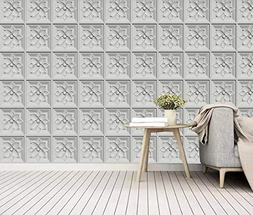 Papel Pintado 3D Matriz De Flores Geométricas Moda Moderna Fotomural 3D Papel Tapiz Moderno Wallpaper