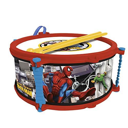 Reig 550 - Spider-Man, Tamburo con Bacchette e Tracolla
