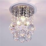 Goeco Lámpara del Techo Candelabro de cristal Luces de Techo LED inoxidable para la...