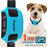 AngelaKerry Wireless Dog Fence System with GPS, Outdoor Pet Containment System Rechargeable Waterproof
