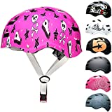 SkullCap® Casco de Skate y BMX - Bicicleta Y Scooter Eléctrico, Diseño: Pinky Punk, Talla: M (55-58 cm)