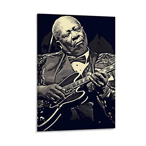 ASDLK Poster mit Motiv Bb King Lucille Gitarre, dekoratives Gemälde, Leinwand, Wandkunst, Wohnzimmer, Poster, Schlafzimmer, 50 x 75 cm