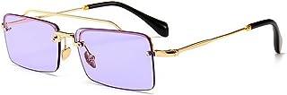 KMCMYBANG Dama Gafas de Sol, Unisex Retro Cuadrado Pequeño Diseño Estrecho Gafas de Sol Mujeres Hombres Protección UV Conducción Vacaciones Playa de Verano Gafas de Sol de Mujer, (Color : Púrpura)