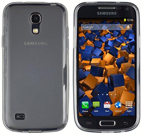 mumbi Hülle kompatibel mit Samsung Galaxy S4 mini Handy Case Handyhülle, transparent schwarz