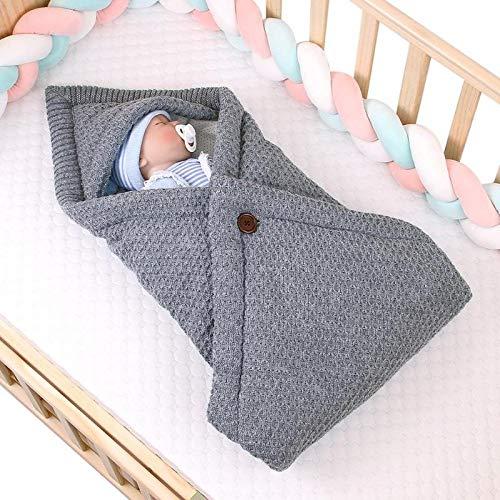 Saco de Dormir de Punto para bebé, Manta para Cochecito, colchón no Tejido, Ropa de Cama para recién Nacidos, Envolvente, Accesorios cálidos para niños