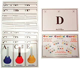 color coded handbell music cards