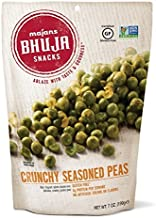 Majans Bhuja Gluten Free Snack Mix, Non-GMO   No Preservatives   Vegetarian Friendly   No Artificial Colors or Flavors, Crunchy Seasoned Peas, 7 Ounce (Pack of 6)