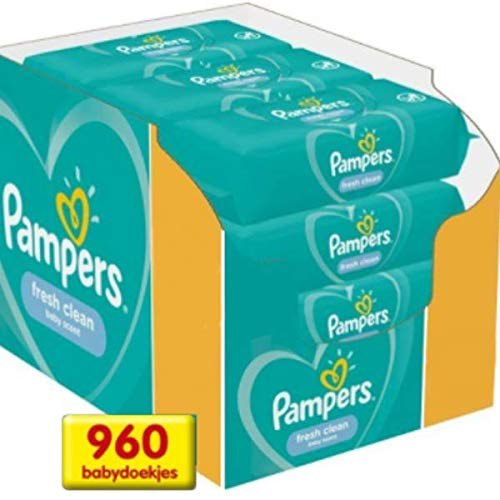 Pampers Feuchte Tücher Fresh Clean, 3 x 4 x 80 Tücher (960 Tücher)