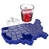 TrueZoo U ICE of A, Blue Silicone Cube Tray – Fun Tray for Freezer – Large Ice Mold for JELL-O, Whiskey, Bourbon – Reusable and BPA-Free