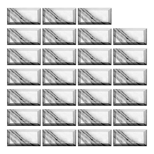 QOXEFPJZ Cenefa Adhesiva Cocina Pegatinas de azulejo de mármol de imitación de 20 * 10cm Etiquetas engomadas de la Teja de la Cocina autoadhesiva DIY (Color : 20, Size : 54PCS)