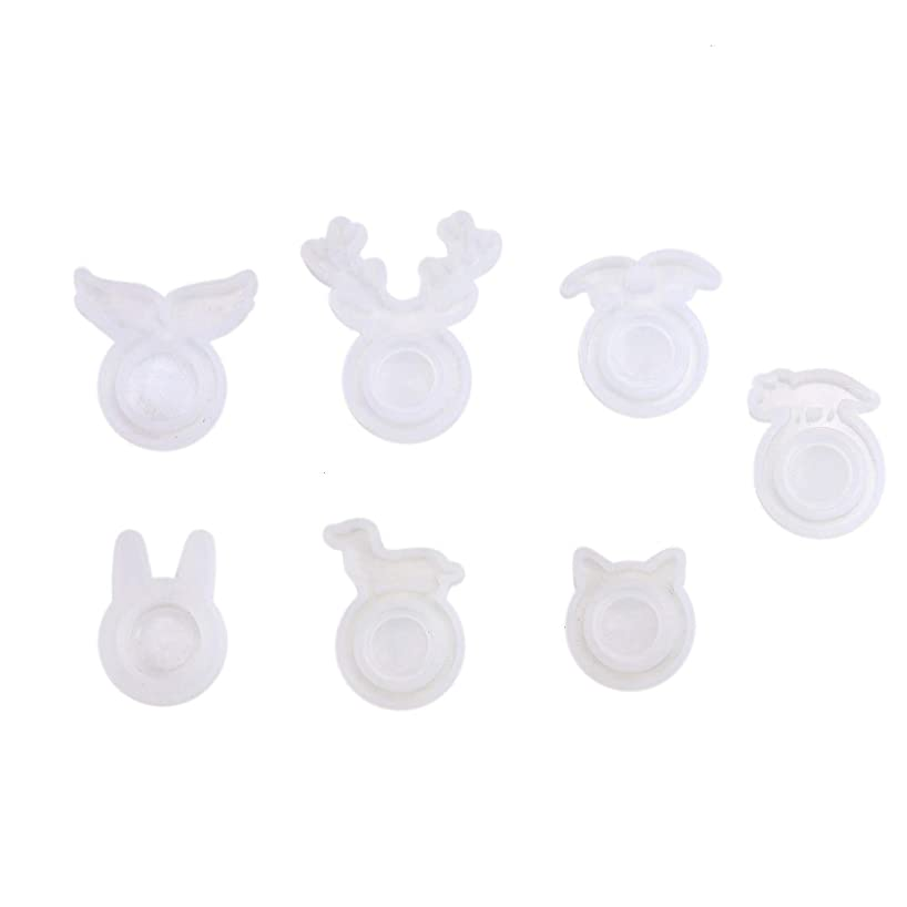 Monrocco 7Pcs Mixed Animal Shaped Resin Mould for Jewelry Resin Making Craft Tools