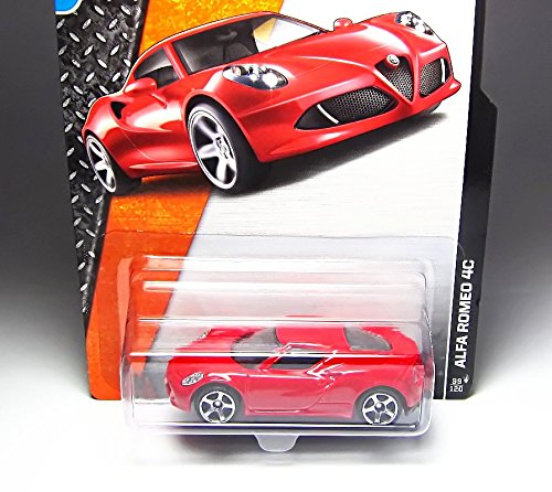 MATCHBOX 2015 RELEASE #99 RED ALFA ROMEO 4C DIE-CAST by MATTEL
