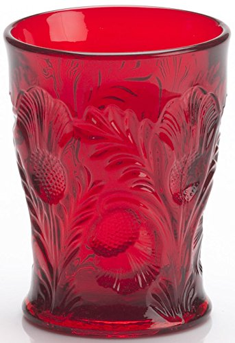 Tumbler - Inverted Thistle - Mosser Glass - USA (Red)