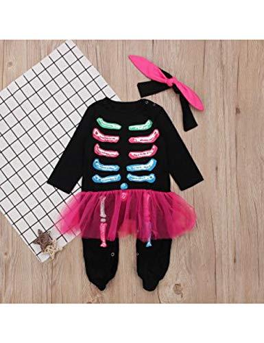 GBYAY Niño Niña Halloween Navidad Casplay Esqueleto Disfraz para Bebé Niños Pijamas Navidad Etapa Ropa de Rendimiento