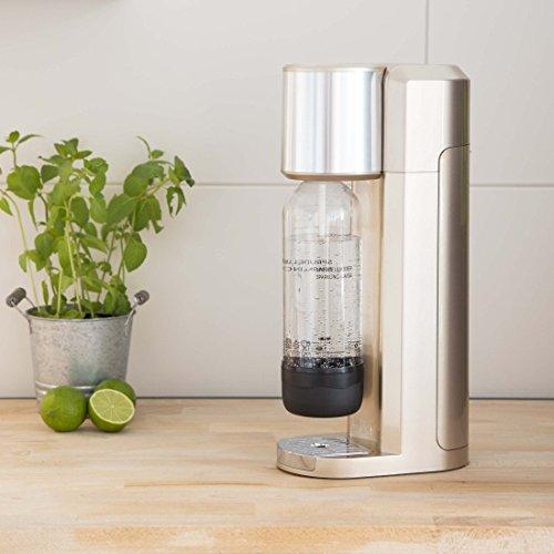 LEVIVO Sparkling Water Maker Machine set with 2x 1L PET bottles, rose gold